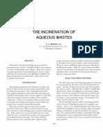Incinerator of Aqueous Waste