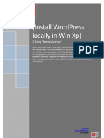 Installing WordPress Locally in Windows Xp Using WampServer
