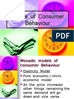 Models of Consumer Behaviour.........by shahid