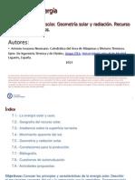 Tema 8 Energia Solar. Geometria Solar y Radiacion. Recursos y Perfiles Productivos