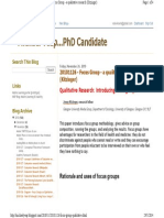 Blog - Kitzinger - Focus Group - A Qualitative Research
