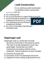 Diaphragm Wall Construction