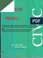 Civic EJ6, EJ7, EJ8 (96-00) Service Manual