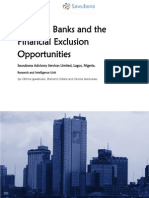 Nigerian Banks and the Financial Exclusion Opportunities