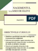 MANAGEMENTUL CLASEI DE ELEVI arad 2013.ppt
