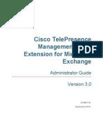 Cisco TMSXE Admin Guide 3-0