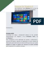 Algunas Diferencias de Windows 8