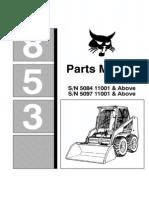 9455470-Bobcat 853 F Parts Manual for Skid Steer Loader Improved