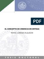 El Concepto de Creencia en Ortega