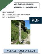 Newsletter 25 October 2013