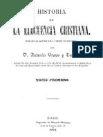 Historia de La Elocuencia Cristiana-Tomo I-Bravo y Tudela