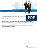 Talent Management in Microsoft Dynamics AX 2012