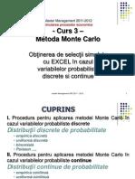 Obtinerea de Selectii Simulate Cu Excel in Cazul Variabilelor Probabiliste Discrete Si Continue - Metoda Monte Carlo