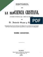 Historia de La Elocuencia Cristiana-Tomo II-Bravo y Tudela