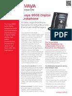 Avaya 9508 Digital Deskphone - Fact Sheet Final