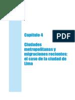 Ciudades Metropolitanas y Migraciones Recientes El Caso de La Ciudad de Lima