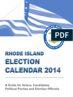 RI Election Calendar 2014