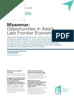 Vol 2 Myanmar Opportunities in Asias Last Frontier Economy Jul 12