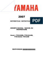 Yamaha TTR 125 - 2007 Shop Manual
