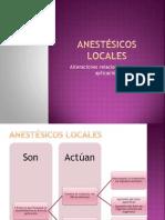 Anestésicos locales issste