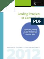 Leading Practices in Curriculum
