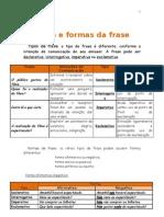 Tipos e Formas Da Frase