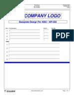 API 650 Baseplate Design