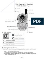 User's Manual for Canyon's Walkie-Talkie CNS-WT3 in English