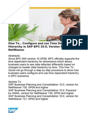 How to    Configure and Use Time Dependent Hierarchy in SAP