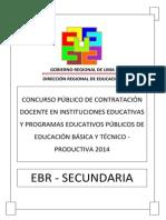 Examen Contrato Docente Secundaria 2014 DRLP