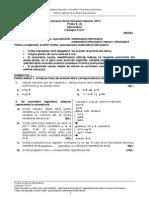 Modele de Subiecte Bacalaureat 2013 Proba E Informatica Specializarea Matematica Informatica CCplusplus