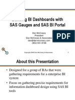 Building BI Dashboards With SAS