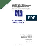 COMPONENTE NIÑO FAMILIA