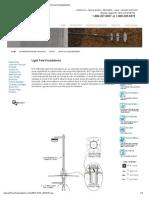 Light Pole Foundations