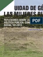 ¿Equidad de género en las mujeres rurales? Reflexiones sobre la política pública, CONPES social 161/2013