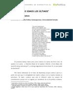 Biopolítica sobre Primo Levi y Agamben serratore_nosotros_no_somos