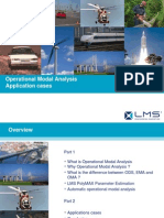 Operational Modal Analysis Case Studies