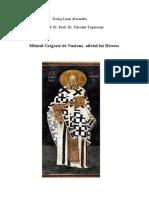 Teolog Lazar Alexandru Sfantul Grigorie Teologul, ierarhul ancorat in Hristos