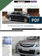 Subaru Legacy e Outback, il rinnovo di un successo