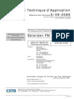 DANOSA Avis Technique Esterdan FM DESC 1