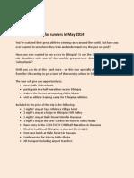 Programme Ethiopia May 2014