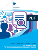 How to Write a Cover Letter for Research Jobs