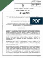 Decreto 865 Del 29 de Abril de 2013
