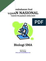 Pembahasan Soal UN Biologi SMA 2009