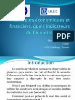 Mouchira Lahiani - Indicateurs économiques et financiers, quels indicateurs du bien-être social ?