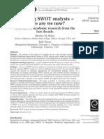 Exploring SWOT Analysis