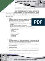 Guía del buen uso de los foros -Pasos para participar