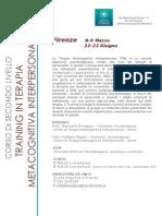 Training in Terapia Metacognitiva Interpersonale