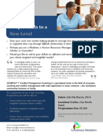 Conflict Coaching Flyer Ireland Mch 2014