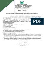 EDITAL DE CONVOCAÇÃO SELETIVO PÚBLICO 2013